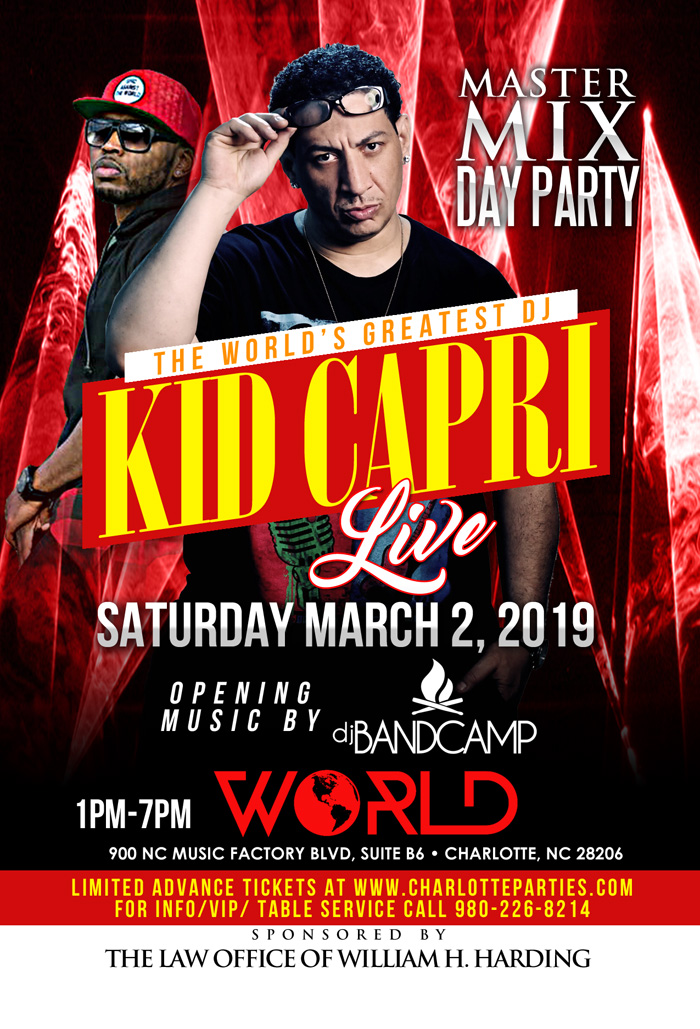 Kid Capri Concert Event in Charlotte NC