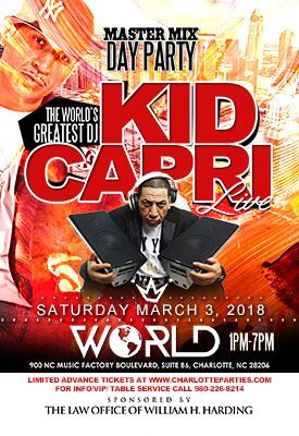 Kid Capri Concert Event in Charlotte NC
